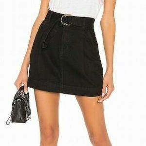 Free People belted denim skirt, 26
